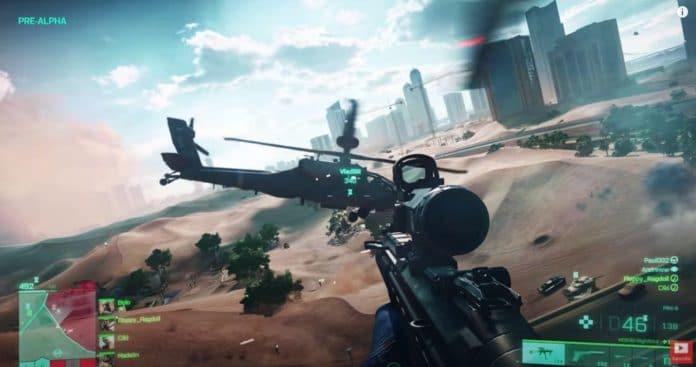 Gráfica del nuevo video juego Battlefield 2042